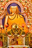 Der Dalai Lama Blesses die tibetanischen Leute Lizenzfreies Stockfoto