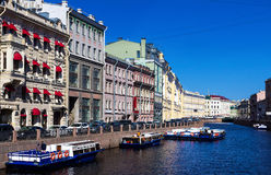Der Damm des Moyka-Flusses St Petersburg Russland Stockbilder