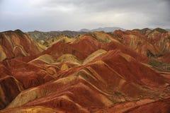 Der Danxia-Berg Stockfotografie