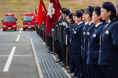 Der Das Feuer-Bericht Kanagawa, Japan des neuen Jahres Stockfotografie