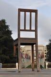 Der defekte Stuhl, Genf, Switerzland Stockbild
