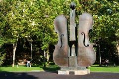 Der defekte Violinen-Brunnen in Bukarest Lizenzfreies Stockfoto