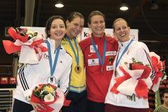 Der Degen 2014 der Weltcupfrauen Stockfotografie