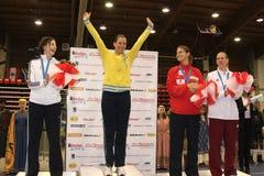 Der Degen 2014 der Weltcupfrauen Stockfotos