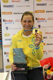 Der Degen 2014 der Weltcupfrauen Stockbilder
