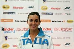 Der Degen 2014 der Weltcupfrauen Stockbild