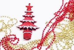 Der dekorative rote X-Baum Lizenzfreies Stockfoto