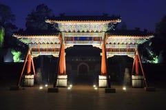 Der dekorative Torbogen der Nacht Lizenzfreies Stockfoto