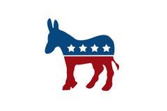 Der demokratische Esel Stockbilder