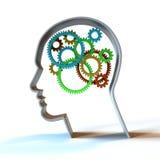 Der denkende Prozess- Farben Stockfoto
