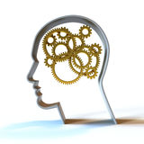 Der denkende Prozess- Gold Lizenzfreies Stockfoto