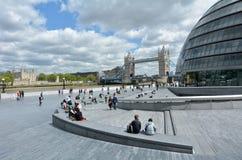 Der Der Südufer-Weg London Großbritannien der Königin Stockfotografie