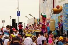 Der Des Nathans berühmte Hotdog 2015, der Wettbewerb-Teil 2 70 isst Stockbild
