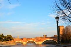 Der Die Etsch-Fluss, Verona, Italien Stockfotografie
