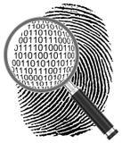 Der digitale Fingerabdruck Stockbild
