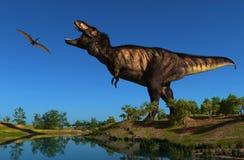 Der Dinosaurier lizenzfreie stockfotos