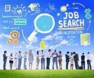 Der Diskussions-Geschäftsleute Aspirations-Job Search Concept Stockfotos