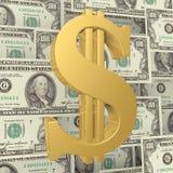 Der Dollar kennzeichnen innen die Hintergrundrechnungen Lizenzfreie Stockbilder