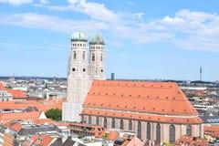 Frauenkirche am Marienplatz in München, Germany. Der Dom zu Unserer Lieben Frau in der Münchner Altstadt, oft Frauenkirche genannt, ist seit 1821 die Royalty Free Stock Photography