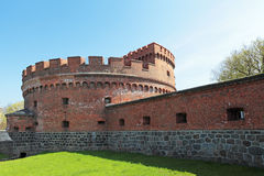The Der Dona tower. Kaliningrad, Russia, old historical building - tower of the Der Dona, which is the old German architecture of Konigsberg city Royalty Free Stock Photos