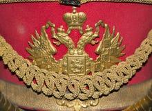 Der doppelköpfige Adler, das Emblem des russischen Reiches Lizenzfreies Stockfoto