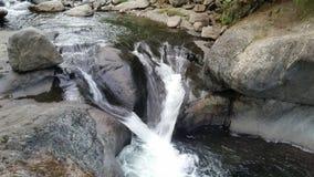 Der doppelte Wasserfall Stockbilder
