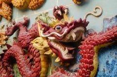 Der Drache auf der Wand stockbild
