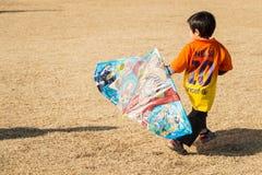 Der Drachen-Festival Kanagawa, Japan des neuen Jahres Stockfotos