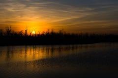 Der drastische Sonnenuntergang Stockbild