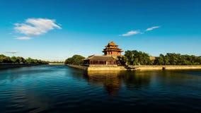 Der Drehkopf der Verbotenen Stadt in Peking, China stock footage