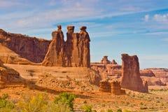 Der drei Klatsch, Bögen Nationalpark, USA Stockfotos