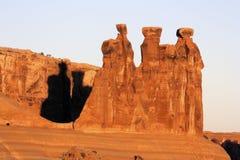 Der drei Klatsch am Bogen-Nationalpark Lizenzfreies Stockbild