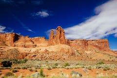 Der drei Klatsch an den Bögen Nationalpark, Utah, USA Lizenzfreie Stockfotos