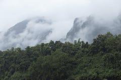 Der Dschungel und die Berge auf Nam Ou-Fluss in Nord-Laos lizenzfreies stockfoto