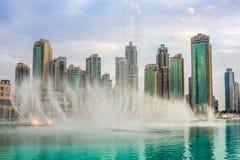 Der Dubai-Brunnen Stockfotografie