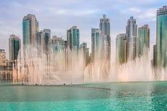 Der Dubai-Brunnen Lizenzfreies Stockfoto
