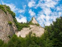 Der Dunajec-Fluss in Polen Ushba u Lizenzfreies Stockfoto