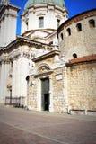 Der Duomo Vecchio oder alte Kathedrale, Brescia, Italien Brescia ist eine Stadt, die in Nord von Italien nahe dem berühmten See g Lizenzfreies Stockfoto
