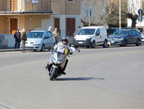 Der Durchgang vom tyrrhenischen zur Adria in Empoli 13/03/20 Lizenzfreie Stockfotos