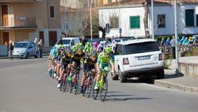 Der Durchgang vom tyrrhenischen zur Adria in Empoli 13/03/20 Lizenzfreies Stockbild