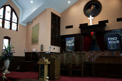 Der Ebenezer Baptist Church in Atlanta Georgia USA, in dem Dr. Martin Luther King der Pastor war Stockbilder