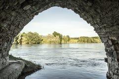 Der Ebro in Miravet lizenzfreies stockfoto