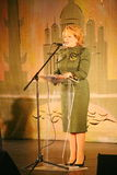 Der Ehrengast Valentina Matvienko, einer der berühmtesten zeitgenössischen weiblichen Politiker Stockfoto