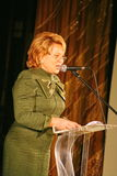Der Ehrengast Valentina Matvienko, einer der berühmtesten zeitgenössischen weiblichen Politiker Lizenzfreies Stockbild