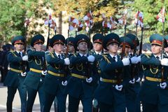 Der Ehrenschutz von Innenministeriumtruppen von Russland Lizenzfreies Stockbild