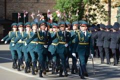 Der Ehrenschutz von Innenministeriumtruppen von Russland Stockfoto