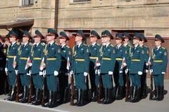 Der Ehrenschutz von Innenministeriumtruppen von Russland Stockbild