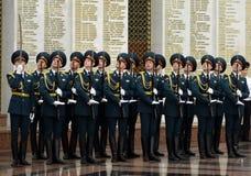 Der Ehrenschutz von Innenministeriumtruppen von Russland Spezielle Militärbildungen sind entworfen, um die innere Sicherheit O si Stockbild