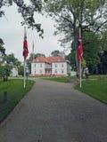 Der Eidsvoll-Landsitz stockfotos