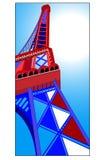 Der Eiffelturm lizenzfreie abbildung